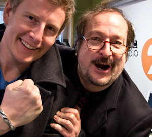 BBC Radio 2 New Comedy Award 2011. Image shows from L to R: Patrick Kielty, Steve Wright.