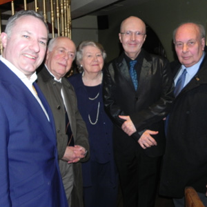 BCS chairman Gareth Hughes and celebrity guests honour Patricia Routledge
