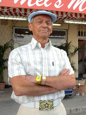 Benidorm. Mel (Geoffrey Hutchings). Copyright: Tiger Aspect Productions.