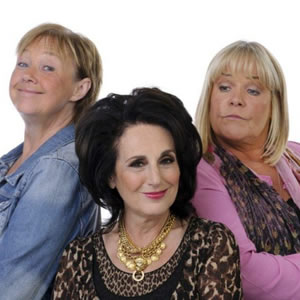 Birds Of A Feather. Image shows from L to R: Sharon Theodopolopodous (Pauline Quirke), Dorien Green (Lesley Joseph), Tracey Stubbs (Linda Robson).