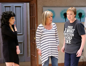 Birds Of A Feather. Image shows from L to R: Dorien Green (Lesley Joseph), Tracey Stubbs (Linda Robson), Sharon Theodopolopodous (Pauline Quirke).