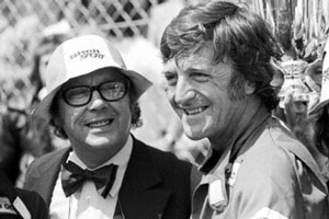 Image shows from L to R: Eric Morecambe, Michael Parkinson.
