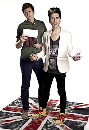 Unzipped. Image shows from L to R: Greg James, Russell Kane. Copyright: Talkback.