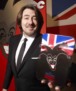 The British Comedy Awards. Jonathan Ross. Image credit: Unique Productions.