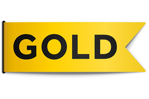 Gold channel logo. Copyright: UKTV.