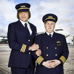 Jackie and Simon. Image shows from L to R: David Walliams, Matt Lucas.