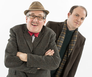 Count Arthur Strong. Image shows from L to R: Count Arthur Strong (Steve Delaney), Michael Baker (Rory Kinnear). Copyright: Retort / Komedia Entertainment.