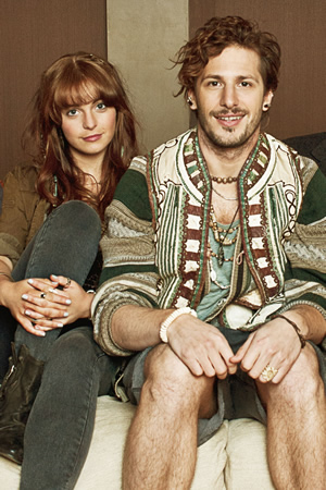 Cuckoo. Image shows from L to R: Rachel (Tamla Kari), Cuckoo (Andy Samberg). Copyright: Roughcut Television.
