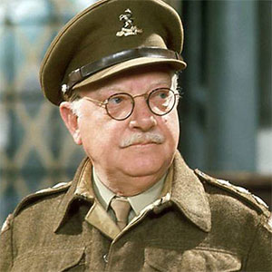 Dad's Army. Captain Mainwaring (Arthur Lowe). Copyright: BBC.