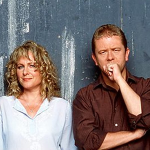 Dead Ringers. Image shows from L to R: Jan Ravens, Jon Culshaw. Image credit: British Broadcasting Corporation.