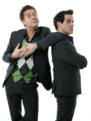 Dick And Dom's Funny Business. Image shows from L to R: Richard McCourt, Dominic Wood. Copyright: BBC.