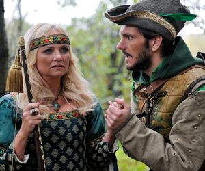 Drunk History. Image shows from L to R: Maid Marian (Emma Bunton), Robin Hood (Mathew Baynton). Copyright: Tiger Aspect Productions.
