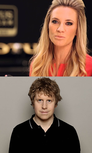 Image shows from L to R: Georgie Ainslie, Josh Widdicombe.