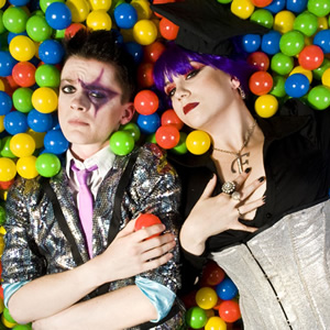 Frisky and Mannish. Image shows from L to R: Matthew Floyd Jones, Laura Corcoran.