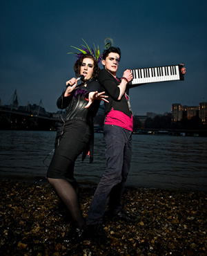 Frisky and Mannish. Image shows from L to R: Laura Corcoran, Matthew Floyd Jones.