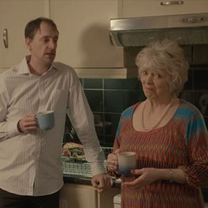 Ghosted. Image shows from L to R: Alistair Green, Alison Steadman.
