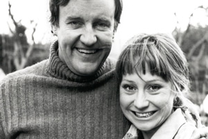 The Good Life. Image shows from L to R: Tom Good (Richard Briers), Barbara Good (Felicity Kendal). Copyright: BBC.
