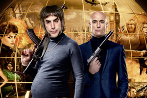 Grimsby. Image shows from L to R: Nobby (Sacha Baron Cohen), Sebastian (Mark Strong). Copyright: Big Talk Productions.