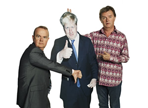 Have I Got News For You. Image shows from L to R: Ian Hislop, Paul Merton. Copyright: BBC / Hat Trick Productions.