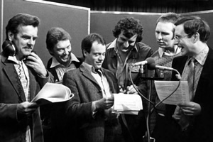 The cast of the radio series. Copyright: BBC / Above The Title Productions.