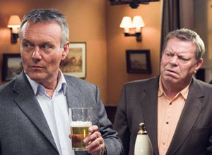 The Invisibles. Image shows from L to R: Maurice Riley (Anthony Head), Syd Woolsey (Warren Clarke). Copyright: Company Pictures.