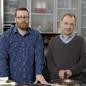 Frankie Boyle and Bob Mortimer's Cookery Show. Image shows from L to R: Frankie Boyle, Bob Mortimer.