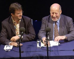 Just A Minute. Image shows from L to R: Paul Merton, Clement Freud. Copyright: BBC.