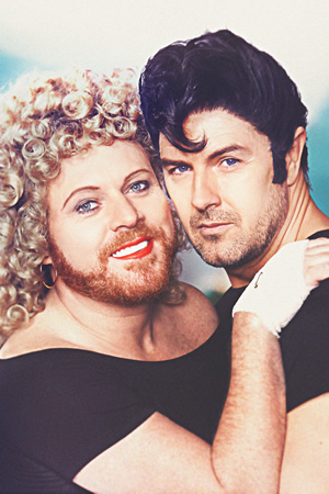 The Keith & Paddy Picture Show. Image shows from L to R: Sandy (Leigh Francis), Danny (Paddy McGuinness). Copyright: Talkback.