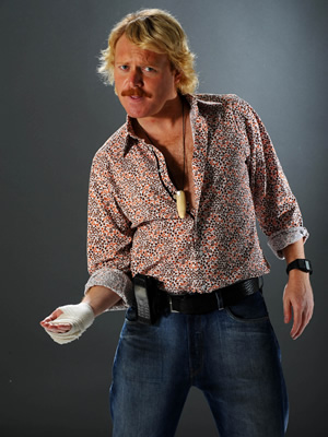 Keith Lemon's Very Brilliant World Tour. Keith Lemon (Leigh Francis). Image credit: Bellyache Productions.