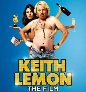 Keith Lemon: The Film. Image shows from L to R: Kelly Brook, Keith Lemon (Leigh Francis). Copyright: Generator Entertainment.