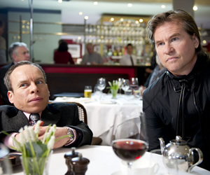 Life's Too Short. Image shows from L to R: Warwick (Warwick Davis), Val Kilmer. Copyright: BBC.