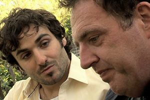 The Limelight. Image shows from L to R: Sean Bollinger (Patrick Monahan), Gary Shand (Glen Maney). Copyright: Limelight Film Company Limited.
