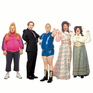 Little Britain. Image shows from L to R: Matt Lucas, David Walliams, Matt Lucas, David Walliams, Matt Lucas. Copyright: BBC / Little Britain Productions.