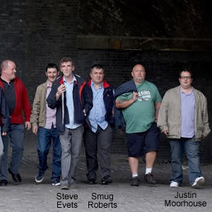 John Henshaw, Des Sharples, Steve Evets, Smug Roberts, Greg Cook, Justin Moorhouse in Looking For Eric.