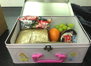 Lucy Porter's lunchbox.