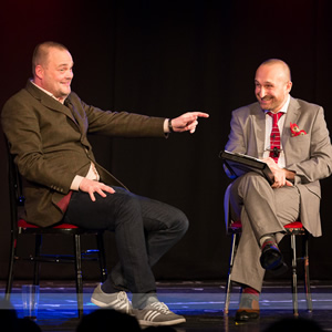 Mat Ricardo's London Varieties. Image shows from L to R: Al Murray, Mat Ricardo.