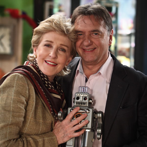 Miranda. Image shows from L to R: Penny (Patricia Hodge), Raymond Blanc. Copyright: BBC.