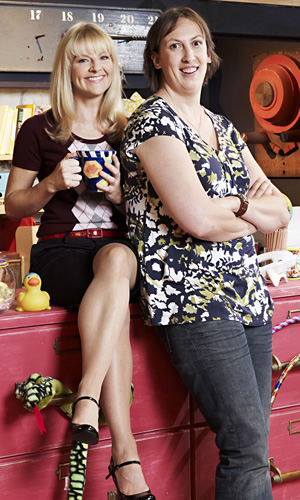 Miranda. Image shows from L to R: Stevie (Sarah Hadland), Miranda (Miranda Hart). Image credit: British Broadcasting Corporation.