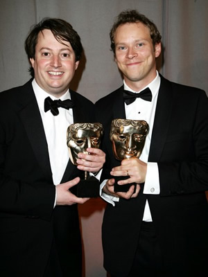 Image shows from L to R: David Mitchell, Robert Webb.