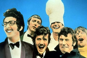 Monty Python's Flying Circus. Image shows from L to R: Eric Idle, Graham Chapman, Michael Palin, John Cleese, Terry Jones, Terry Gilliam. Copyright: BBC.