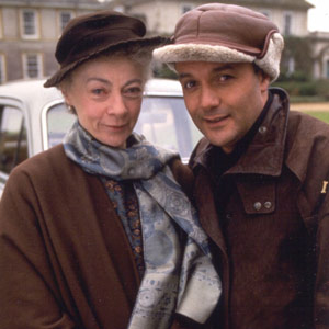 Mulberry. Image shows from L to R: Miss Farnaby (Geraldine McEwan), Mulberry (Karl Howman). Image credit: British Broadcasting Corporation.