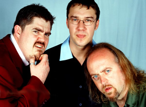 Never Mind The Buzzcocks. Image shows from L to R: Phill Jupitus, Mark Lamarr, Bill Bailey. Copyright: TalkbackThames / BBC.