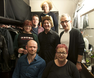 No Pressure To Be Funny. Image shows from L to R: Angela Barnes, Alistair Barrie, Joe Wells, Andy Zaltzman, Christian Reilly, Jo Brand, Nick Revell.