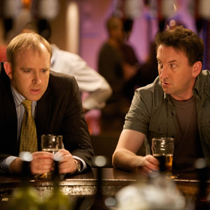 Not Going Out. Image shows from L to R: Tim (Tim Vine), Lee (Lee Mack). Copyright: Avalon Television / Arlo Productions.