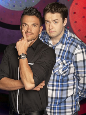 Odd One In. Image shows from L to R: Peter Andre, Jason Manford. Copyright: Zeppotron.