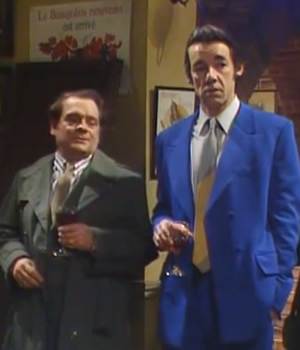 Only Fools And Horses. Image shows from L to R: Del (David Jason), Trigger (Roger Lloyd-Pack). Copyright: BBC.
