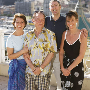 Only Fools And Horses. Image shows from L to R: Raquel (Tessa Peake-Jones), Del (David Jason), Rodney (Nicholas Lyndhurst), Cassandra (Gwyneth Strong). Copyright: BBC.