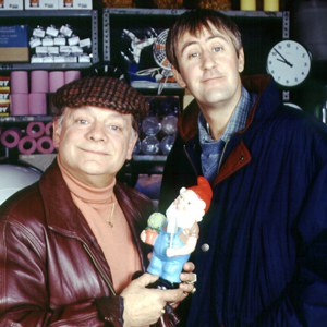 Only Fools And Horses. Image shows from L to R: Del (David Jason), Rodney (Nicholas Lyndhurst). Image credit: British Broadcasting Corporation.