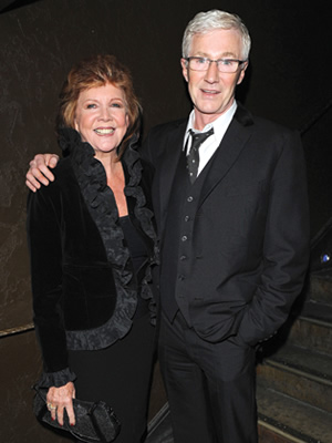 Image shows from L to R: Cilla Black, Paul O'Grady.