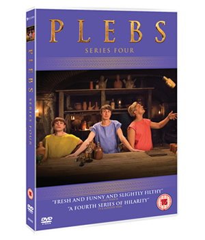 Plebs - Series 4 DVD. Copyright: RISE Films.